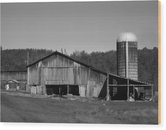 Old Farm Barn In Kentucky Wood Print
