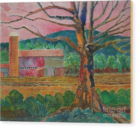 Old Herschel Farm Wood Print by Donald McGibbon