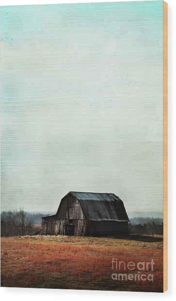 Old Kentucky Tobacco Barn Wood Print