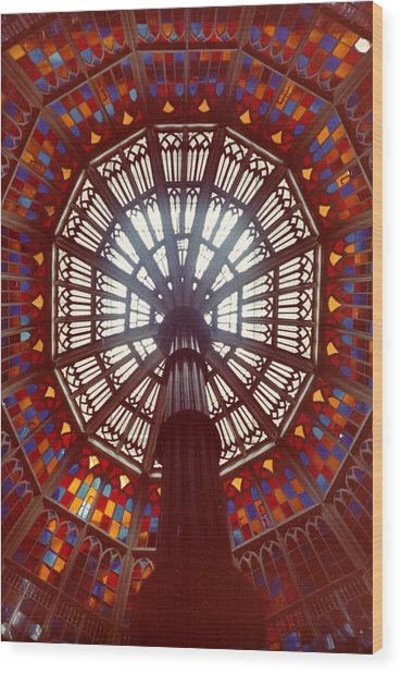 Old Louisiana State Capitol Dome Wood Print