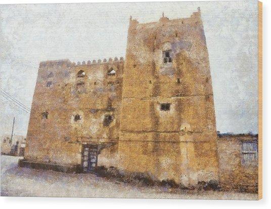 Old Mansion In Mirbat Wood Print