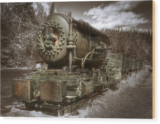 Old Mine Train Banff Wood Print