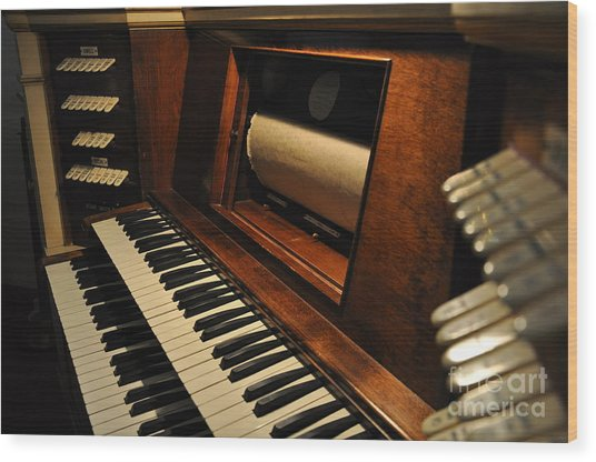 Old Organ  2 Wood Print