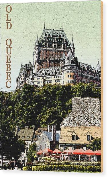 Old Quebec Wood Print by Linda  Parker