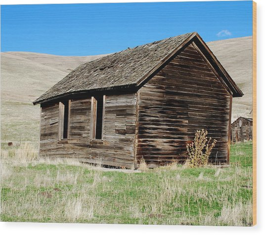 Old Ranch Hand Cabin Wood Print