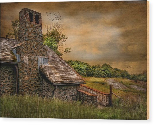 Old Stone Countryside Wood Print by Robin-Lee Vieira