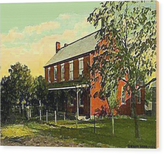Old Tavern In Scenery Hill Pa Wood Print by Dwight Goss