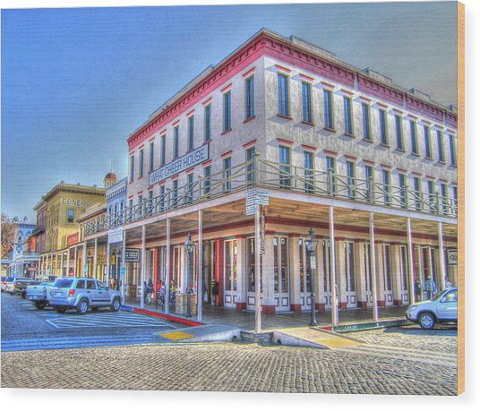 Old Towne Sacramento Wood Print by Barry Jones