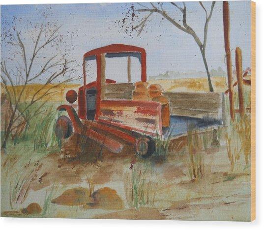 Old Trucks Never Die Wood Print
