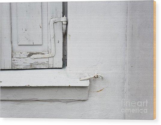 Old Window Shutters Detail Wood Print