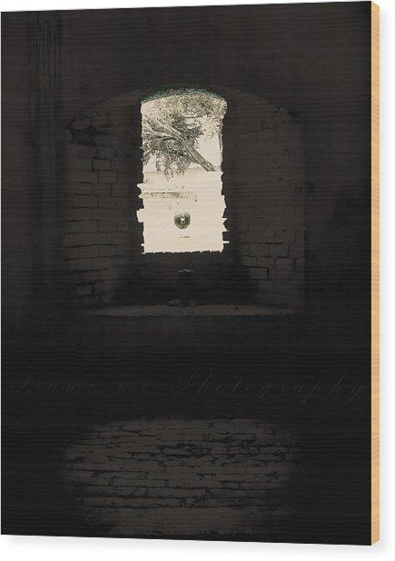 Old Window Wood Print by Vanessa Benson