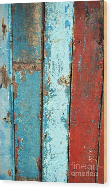 Old Wooden Background Wood Print by Antoni Halim