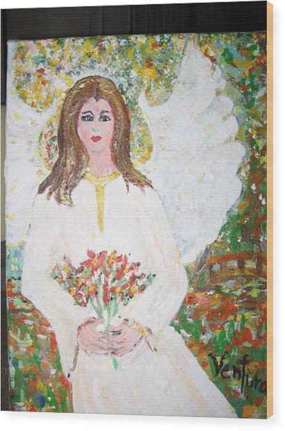 Olivia The Angel Wood Print