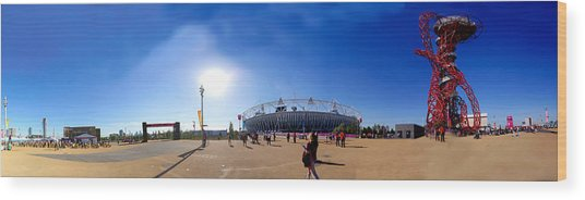Olympic Park  Wood Print by Keith Sutton