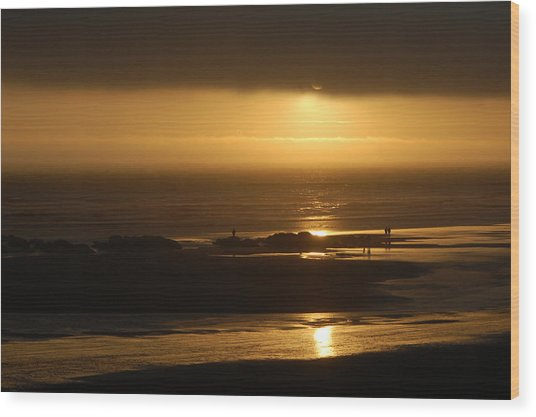 Olympic Sunset Wood Print