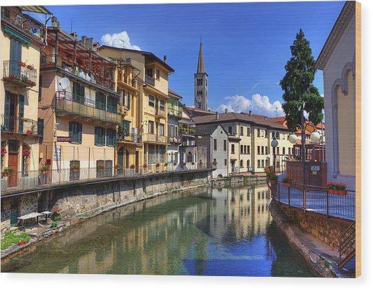 Omegna - Piedmont Wood Print