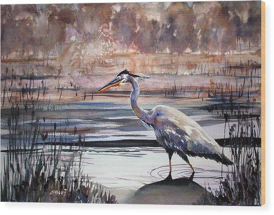 On Blue Bayou  Wood Print