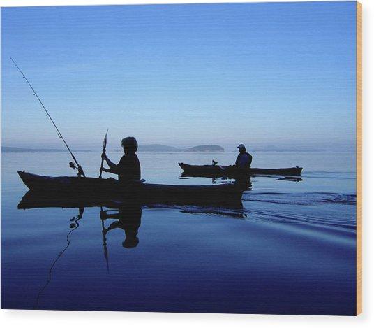 On The Deep Blue Sea Wood Print