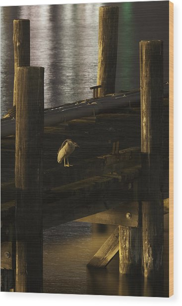 On The Dock Wood Print