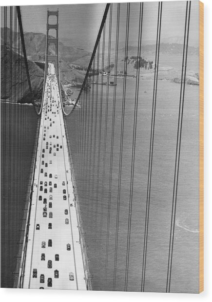 On The Golden Gate Wood Print by Archive Photos