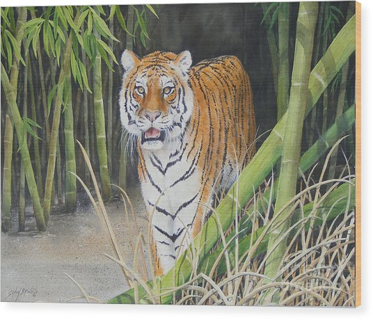 On The Prowl  Sold Prints Available Wood Print