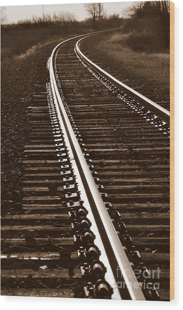 On The Right Track Wood Print