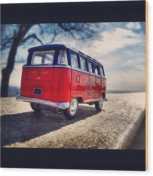 On The Road... #vw #vwbus #bus #habs Wood Print