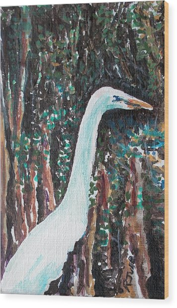 On Watch Wood Print