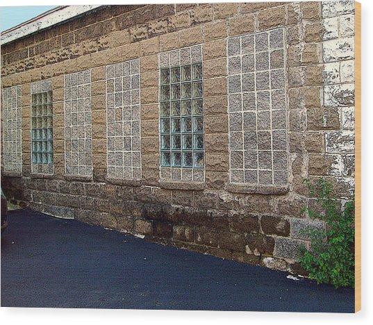 Once Were Windows Wood Print by MJ Olsen