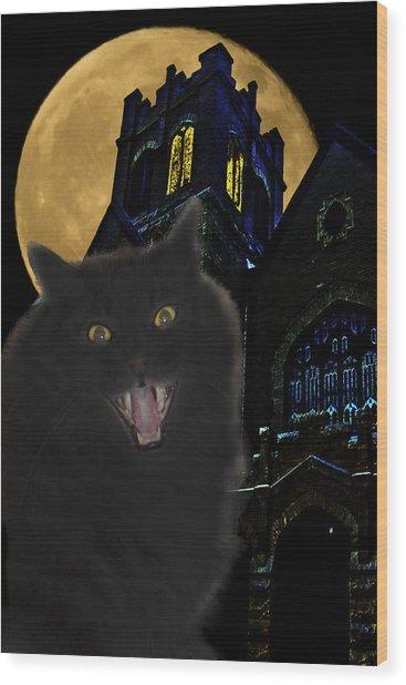 One Dark Halloween Night Wood Print