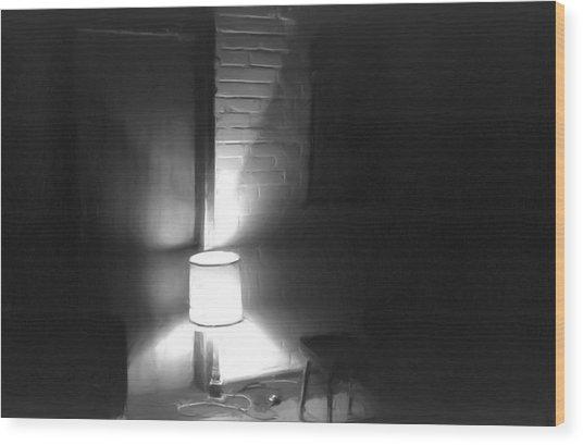 One Room One Light -- Ein Zimmer Ein Licht Wood Print by Arthur V Kuhrmeier