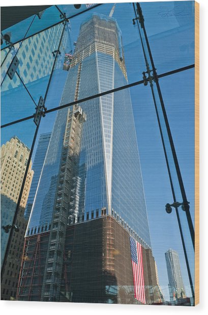 One Wtc Rising Wood Print