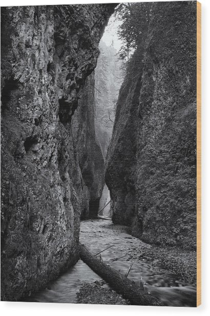 Oneonta Gorge Wood Print