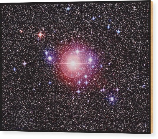 Open Star Cluster Ngc 2451 Wood Print by Celestial Image Co.