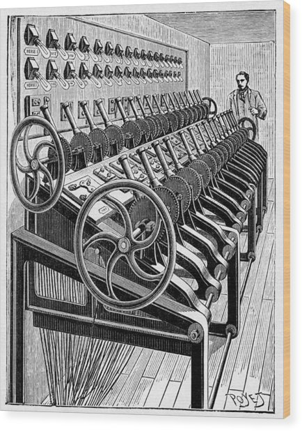 Opera House Lighting Controls, Artwork Wood Print by Cci Archives
