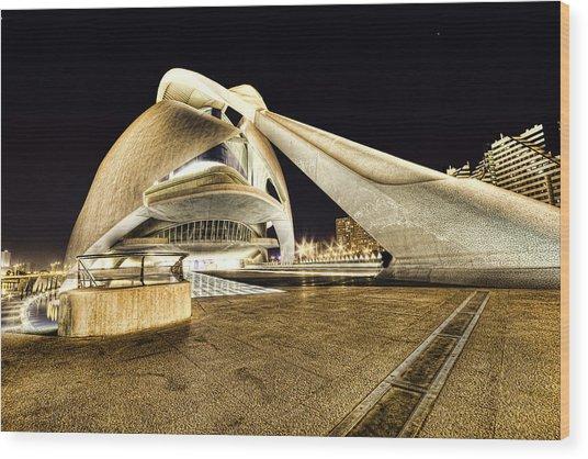 Opera Valencia Wood Print by Gabriel Calahorra