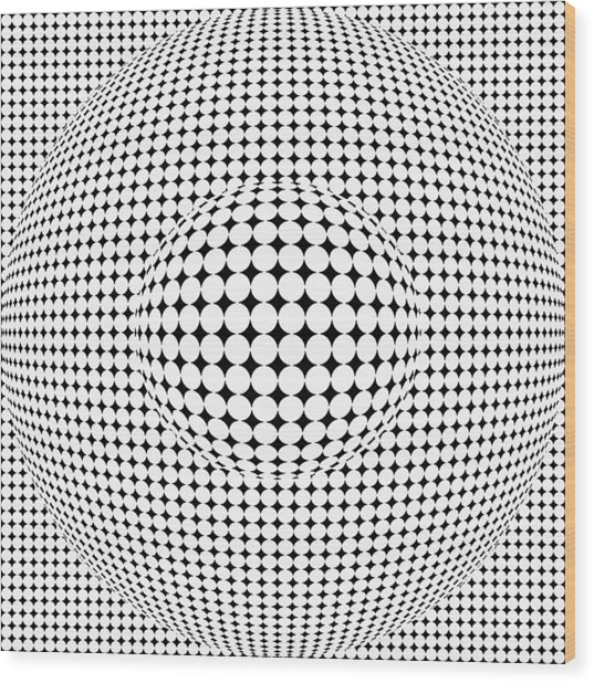 Optical Illusion Ball In Ball Wood Print