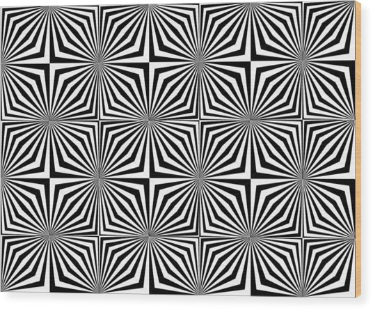 Optical Illusion Spots Or Stares Wood Print