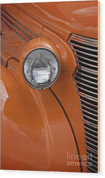 Orange Chevrolet Wood Print