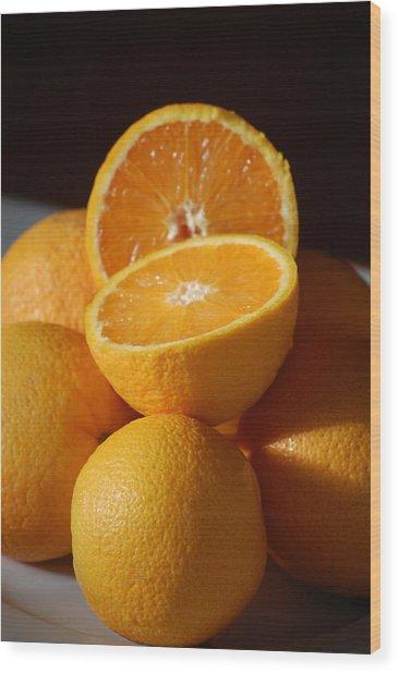 Orange Halves Wood Print by Dickon Thompson