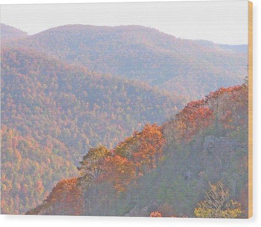 Orange Hills Wood Print