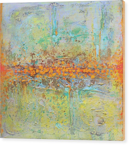 Orange Intenference Wood Print