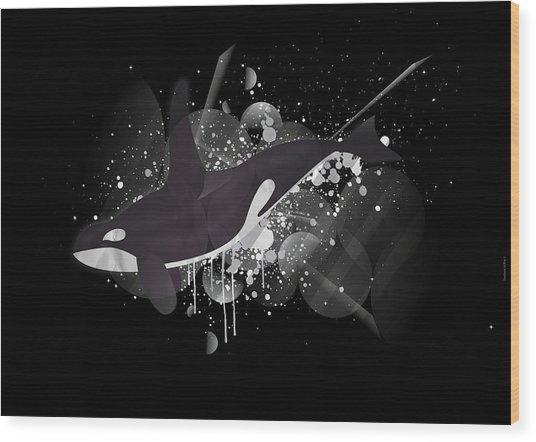 Orca Wood Print by Stephane Le Blan