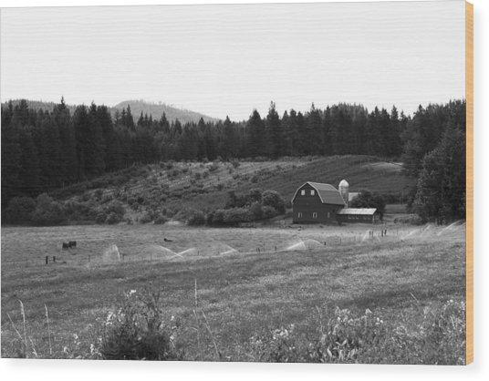 Oregon Farm Wood Print