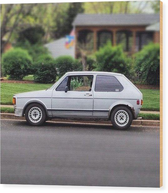 Original. #cars #vw #volkswagen #golf Wood Print