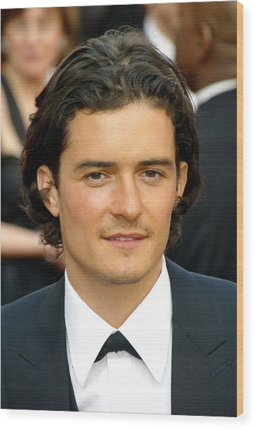 Orlando Bloom At Arrivals For 77th Wood Print