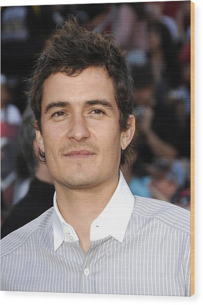 Orlando Bloom At Arrivals For Premiere Wood Print