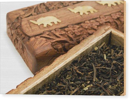 Ornate Box With Darjeeling Tea Wood Print