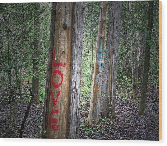 Orono Grafitti 2 Wood Print