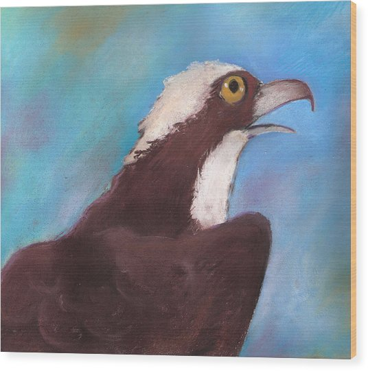 Osprey Wood Print by Susan Herbst